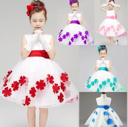 New Children Wedding Birthday Party Full Dress Kids Girl's ...
