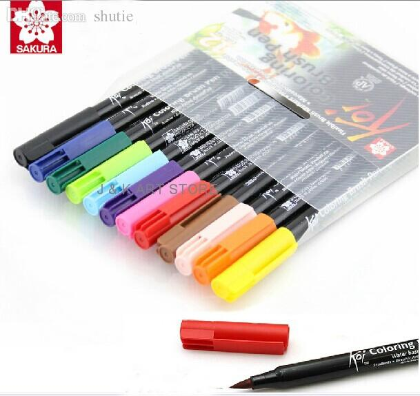 Online cheap wholesale sakura koi coloring brush pen for Koi brush pen