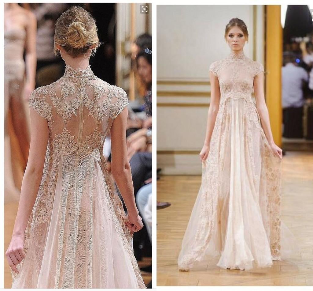 Discount Luxury Elie Saab A Line Lace Wedding Dresses 2016