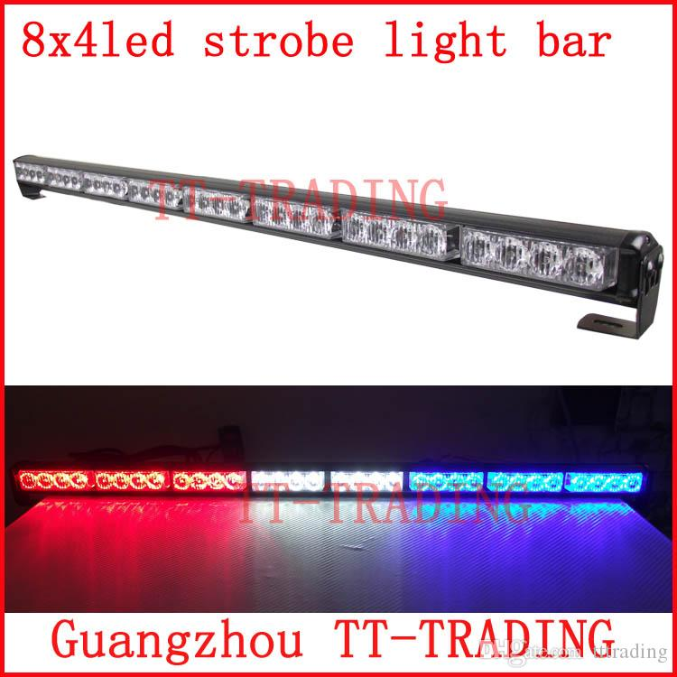 8x4 Led Police Strobe Lights Vehicle Strobe Light Bar Car Warning ...