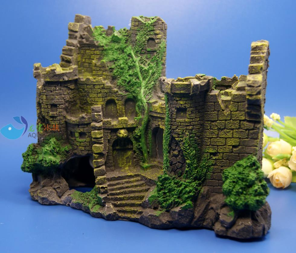 Fish aquarium ornaments - Aquarium Decoration The Ruins Ancient Castle For Fish Tank Resin