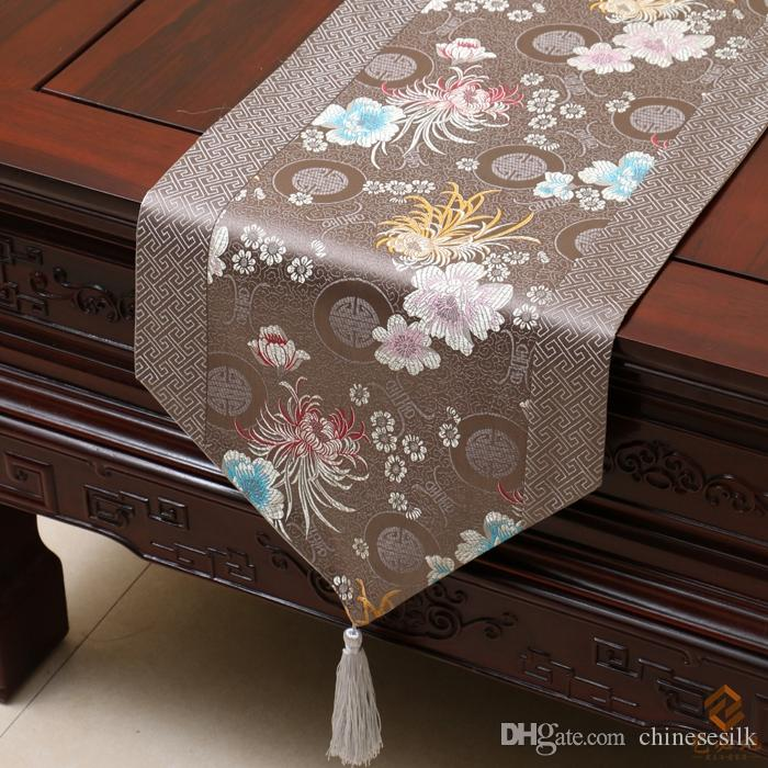 Happy Patchwork Printed Table Runner Chinese Style Luxury Cover Cloth High  Grade Damask Coffee Table Cloth Dining Table Mat Home Decoration Elegant ...
