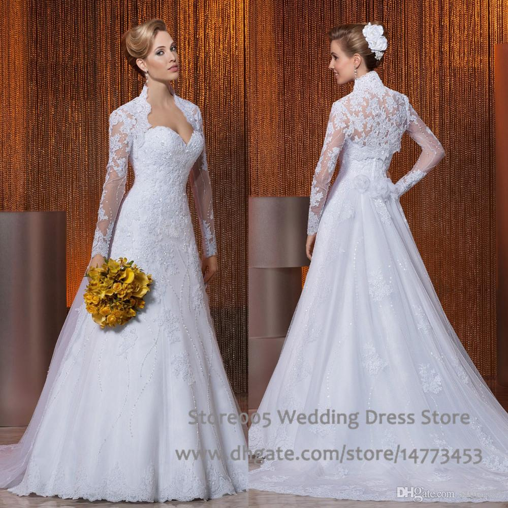 Discount Long Sleeve Grecian Wedding Dresses With Jacket