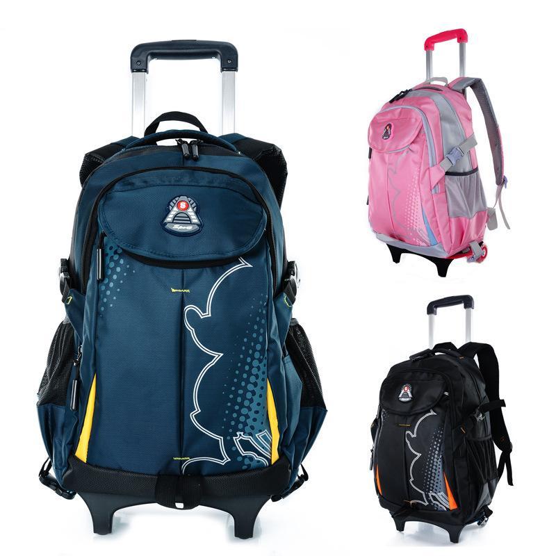 Trolley School Bag Travel Bag Backpack With Wheels Back To School ...