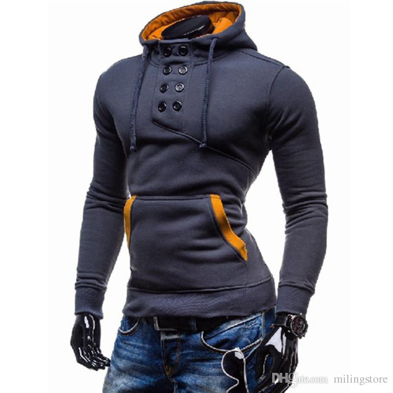 High Quality Autumn Mens Stylish Double Breasted Collar Pullover ...