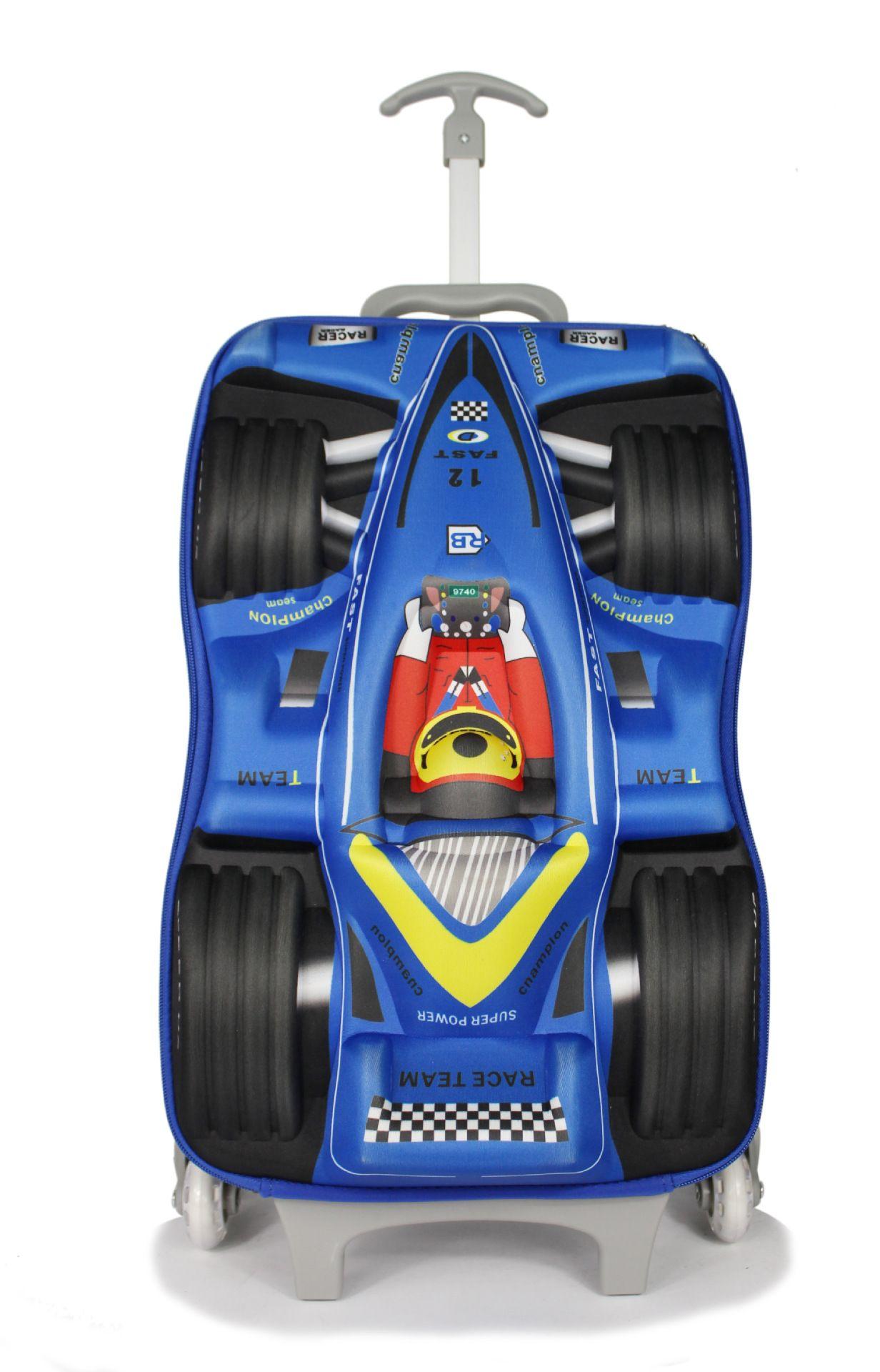 Car Eva 3d Children Trolley School Bag For Boy Racing