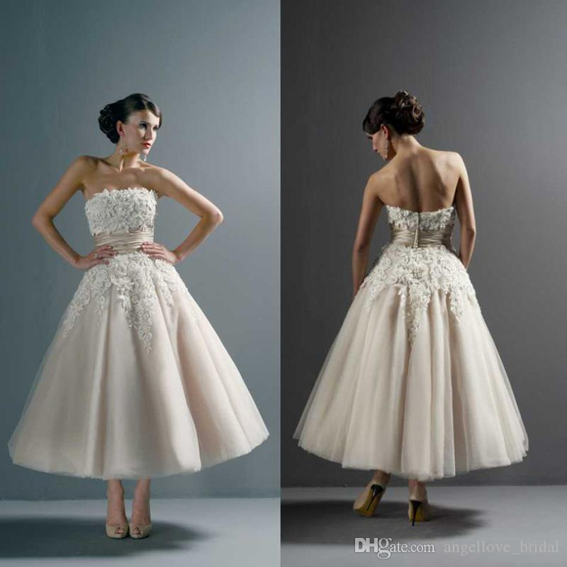See larger image for Vera wang tea length wedding dress