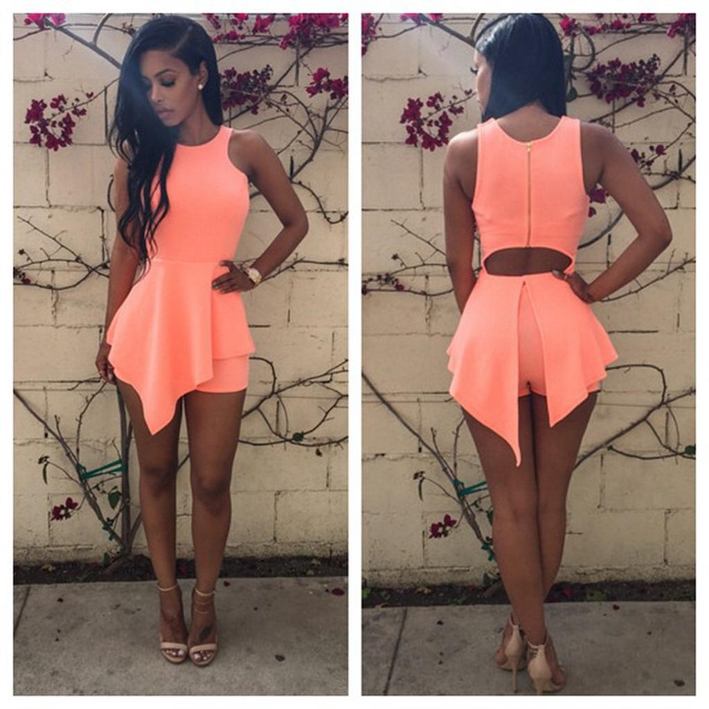 New 2016 Summer Style Noverlty Women Jumpsuit Club Elegant Short ...