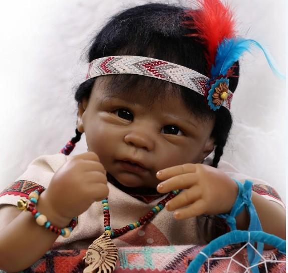 black reborn babiesboy bebes de silicone munecas juguetes