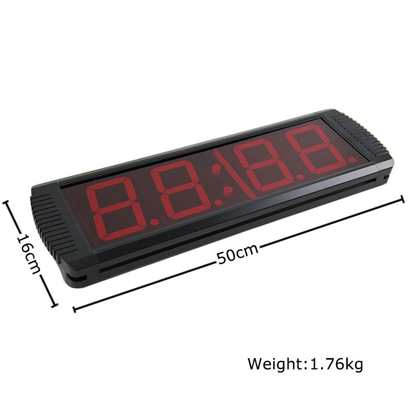 digital led count down up interval timer gym fitness wall