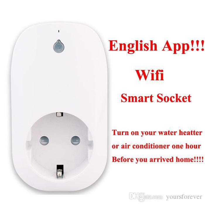 50pcs intelligente Wifi Steckdose Fernbedienung Steckdose Intelligent Device max Unterstützung 3500W / 16A Ausgangslast D5400B