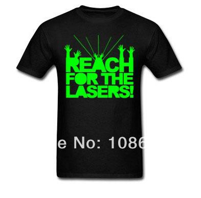 2014 mens custom t shirts reach for the lasers funny t for Custom t shirts international shipping