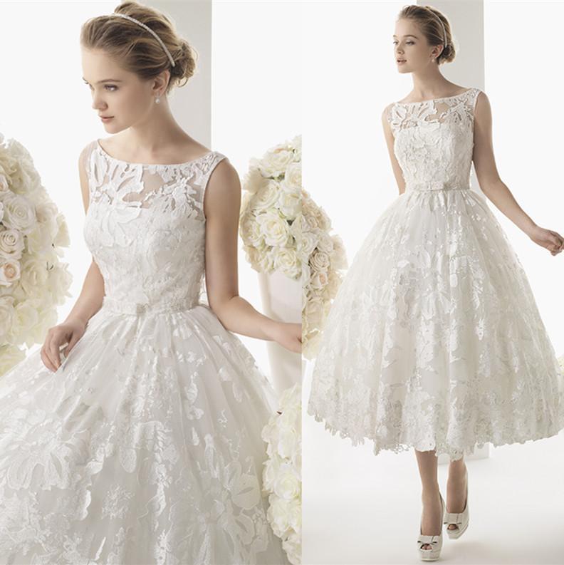 Plus Size Vintage Wedding Dresses Tea Length - Flower Girl Dresses
