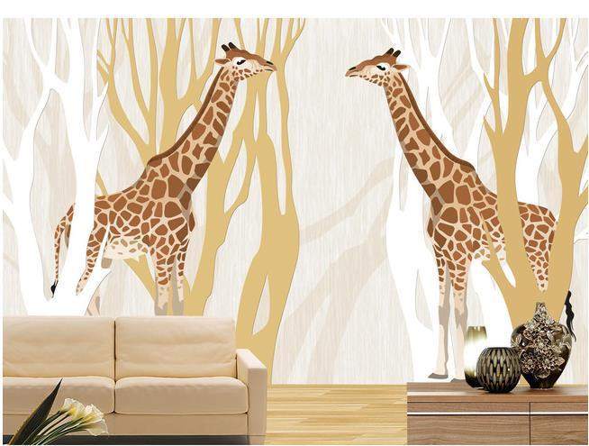 Superior Wall Paper Relief Tree Love Giraffe Wallpaper Mural Wall Stickers Wallpaper  Papel De Parede Wallpapers20154024 Online With $36.07/Square Meter On ...