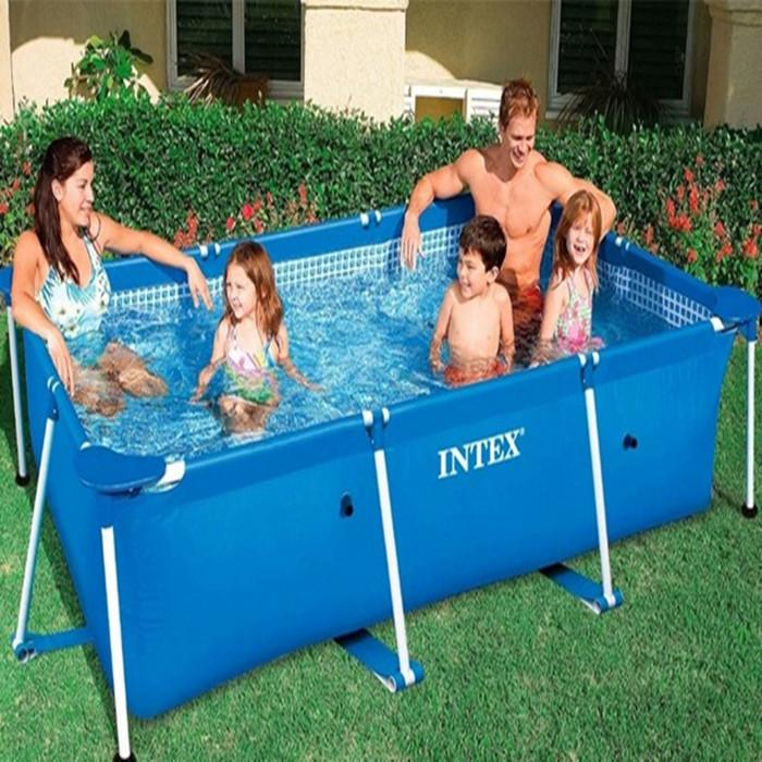 2017 intex baby swimming pool rectangular tube frame for Piscine tubulaire 3x2