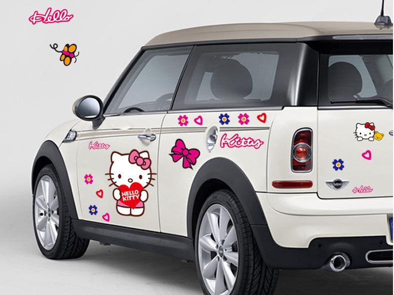 PromotionHello Kitty Car Stickers Lovely Cat Decal For Toyota - Promotional custom vinyl stickers for cars