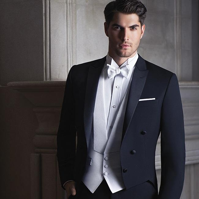 Bespoke Mens Suits Wool Bleed Groom Tuxedo Long Tail Slim for ...