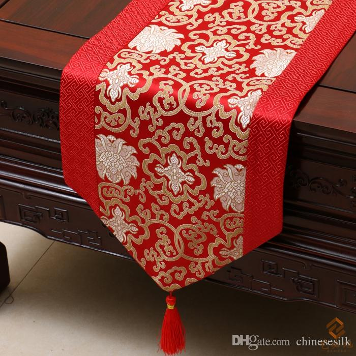 Elegant Festival Fancy Table Runners Table Linen Vintage Chinese Rustic Style  Luxury Patchwork Silk Brocade High End Decorative Tea Table Cloth Satin Table  Runner ...