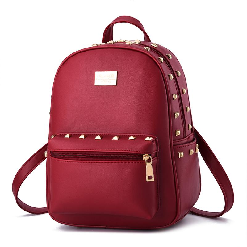 2016 New Fashion Women Backpack Crown Pu Leather Ladies Shoulder ...