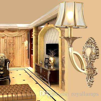 Italy Antique Copper Wall Lamps Bedroom Wall Sconce Europe Vintage ...