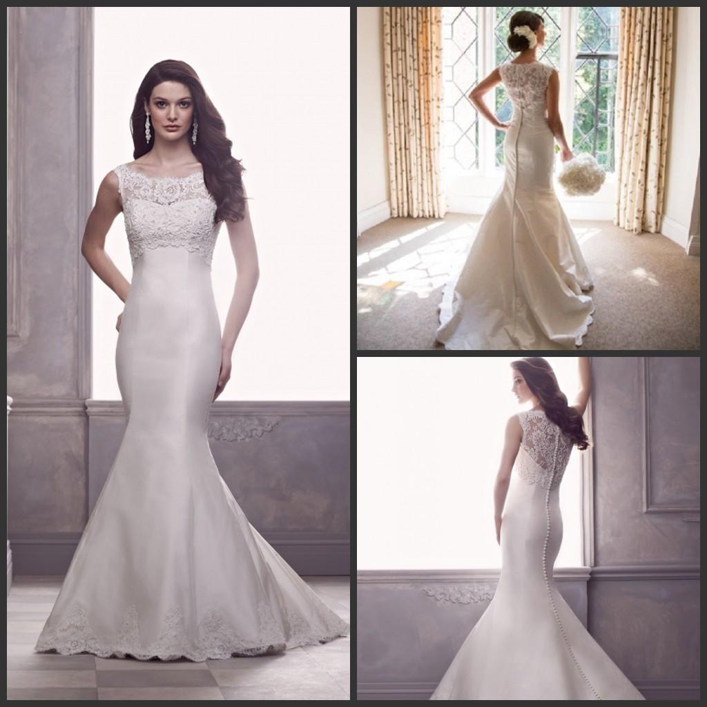 Lace Wedding Dresses Paloma Blanca Silk Dupioni 2015