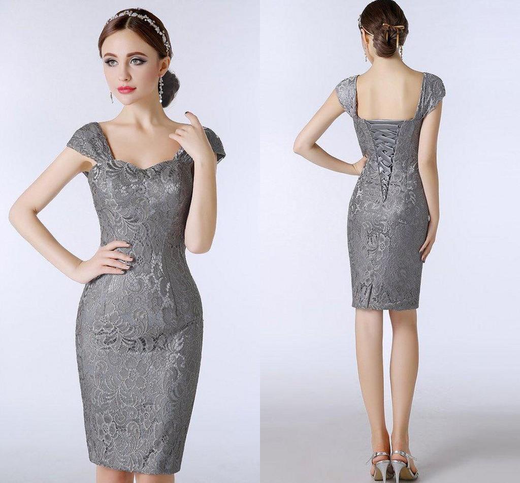 Grey Short Mother Bride Dresses Online | Grey Short Mother Bride ...