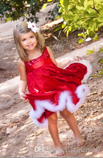 Short Sleeve Santa Dress For Girls