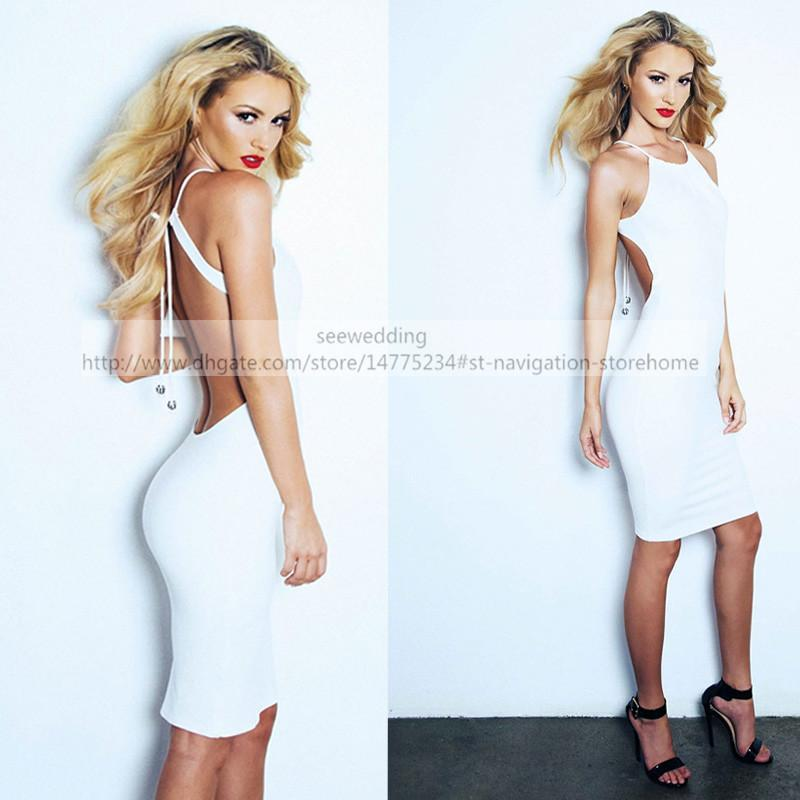 Short White Party Dresses Lurelly Ledoux Dress Halter With Jeweled ...
