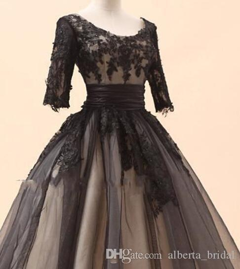 Amazing mermaid high neck black chiffon lace long special occasion - Amazing Black Lace Long Sleeves Short Dress With Very