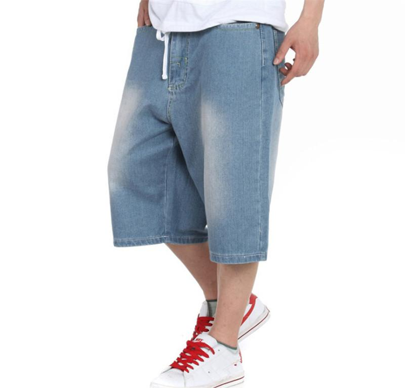 2017 Summer Style Men Jean Shorts Plus Size 30 46 Cotton Casual
