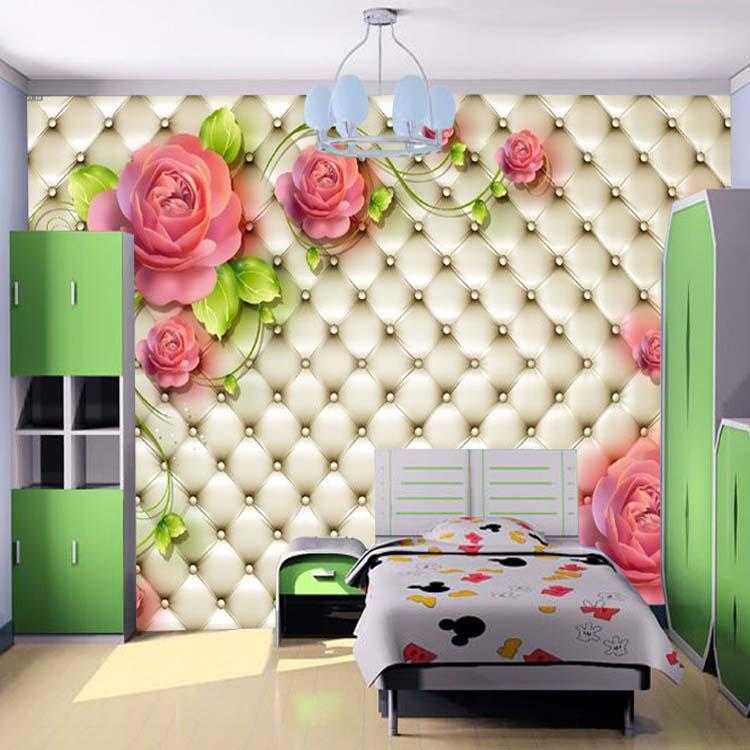 3d wall mural photo beautiful rose large wallpaper for Beautiful wall mural