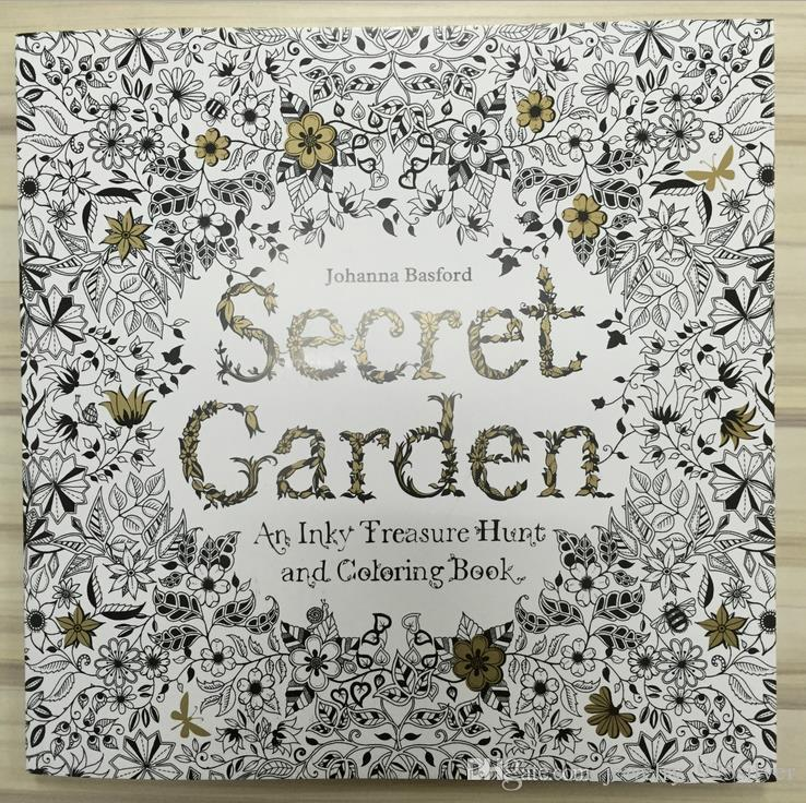 Secret Garden Coloring Book Hot Sale In Amazon By Johanna Basford For Kids Adult Relieve Stress Book1801 Graffiti Painting The Tree