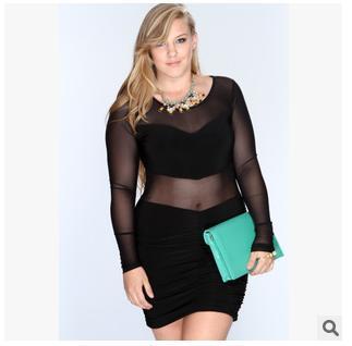 New 2016 Sexy Plus Size Club Dresses Women Bodycon Night Club Wear ...