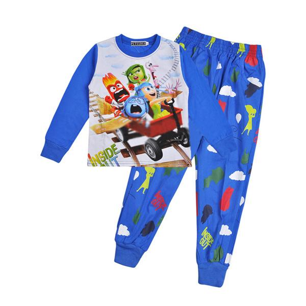 Inside Out Kids Pajamas Sets 2016 Fall Winter Cartoon Anime Long ...