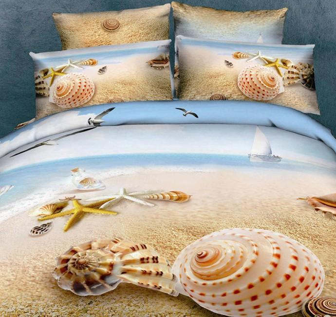 3d Beach Duvet Cover Bedding Set Quilt Sea Starfish Super