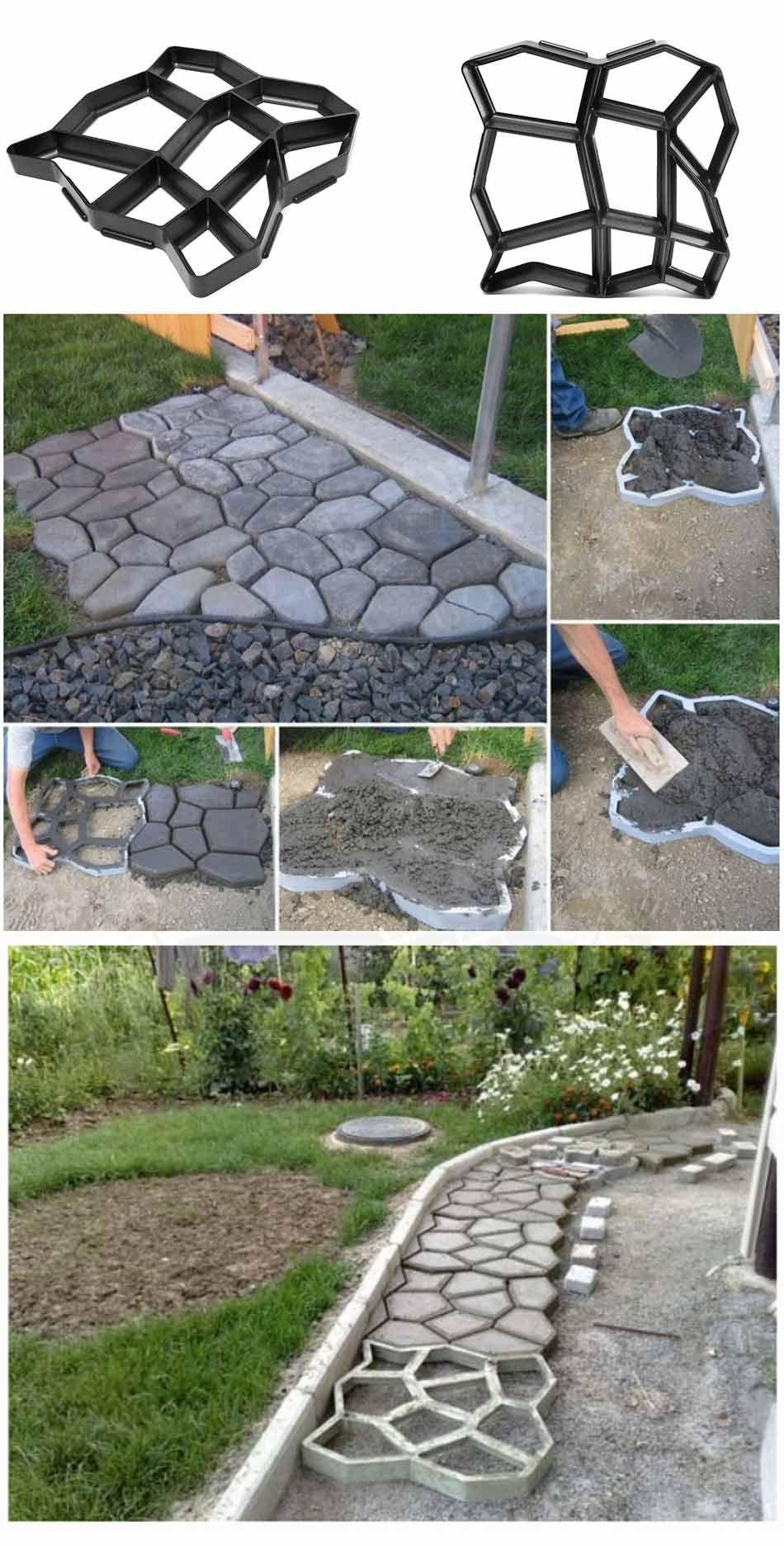 Создание садовой дорожки при помощи формы своими руками 165
