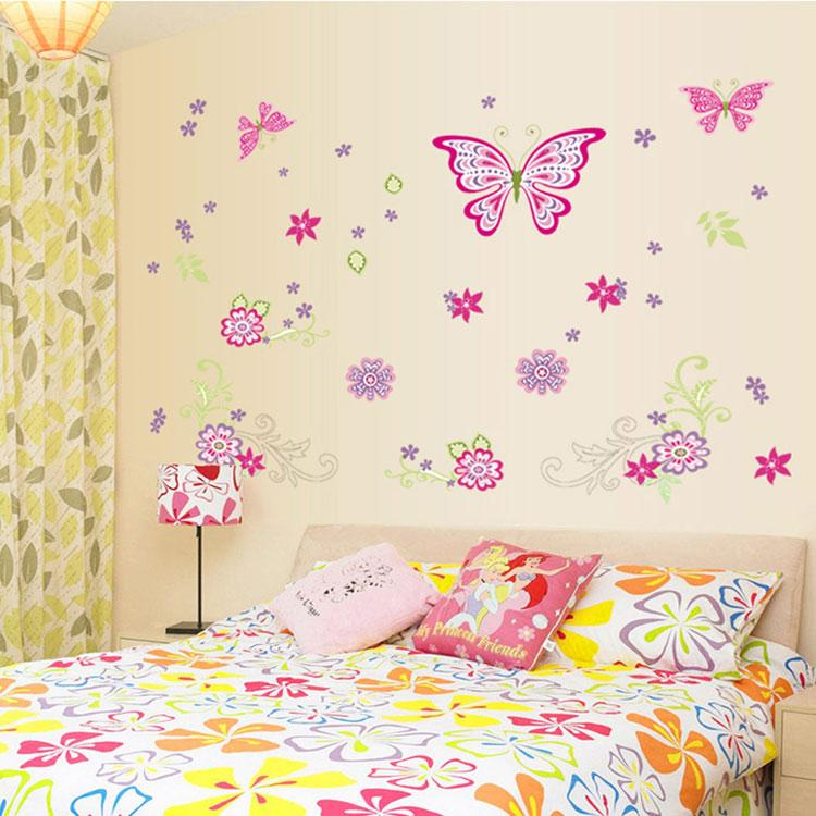 2015 New 3D PVC Pink Butterfly Flower Wall Sticker DIY Home Decor Wall  Stickers Home Decoration Butterfly Wall Sticker Online With $4.7/Piece On  ... Part 47