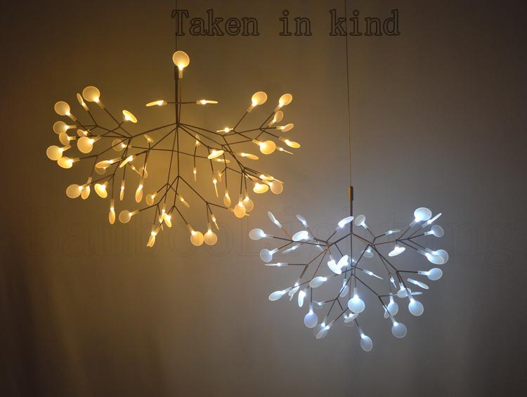 Discount small heracleum leaves led pendant lamp tree for Lampen replica
