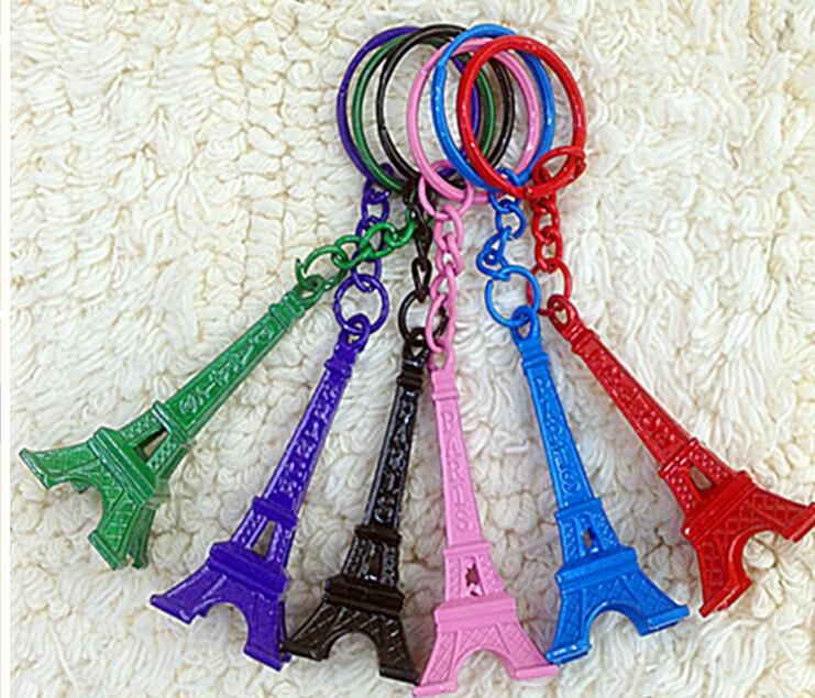 wholesale creative vintage eiffel tower keychain metal keychain great 6 colour choose bottle. Black Bedroom Furniture Sets. Home Design Ideas
