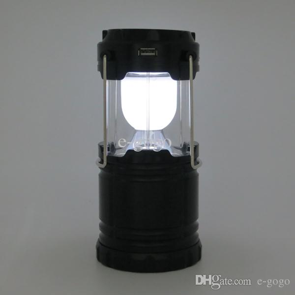 G-85 6 LED Solar Camping Lamp Outdoor Lighting Portable Camp Tent ...