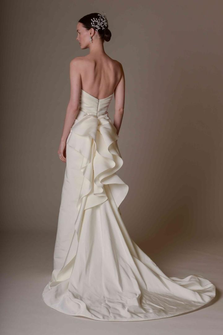 Marchesa wedding dresses with bustle strapless ivory for Wedding dress train bustle