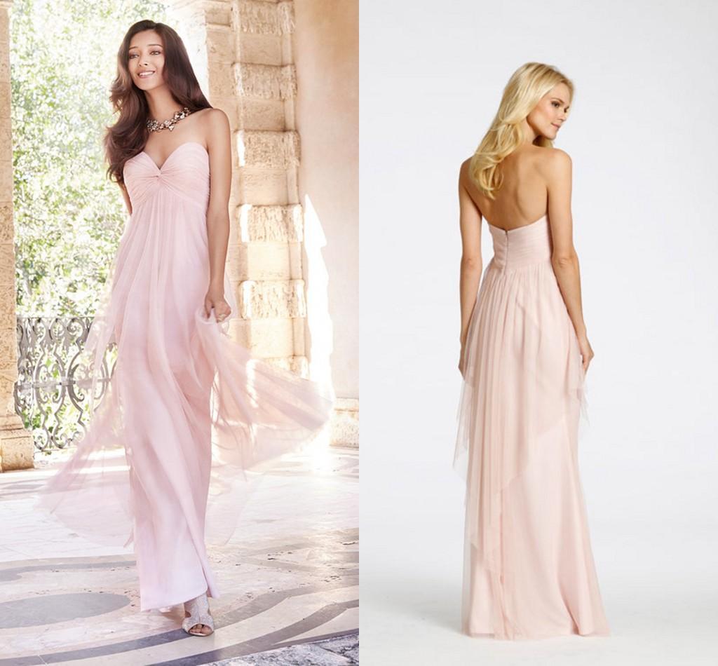 Pink Summer Beach Wedding Dresses Bridesmaids Wear Cheao