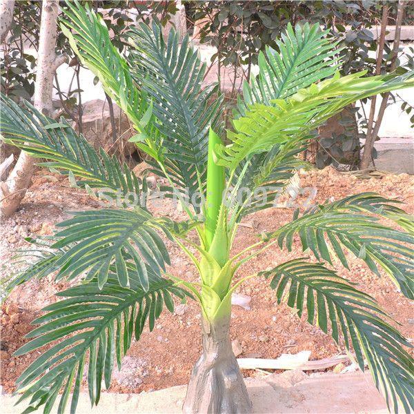Large 86CM Latex Wedding Home Outdoor Floor Patio Sago Decor Artificial  Phoenix Coconut Palm Plant Tree Foliage Green FL1715 Palm Tree Artificial  Plant Tree ...