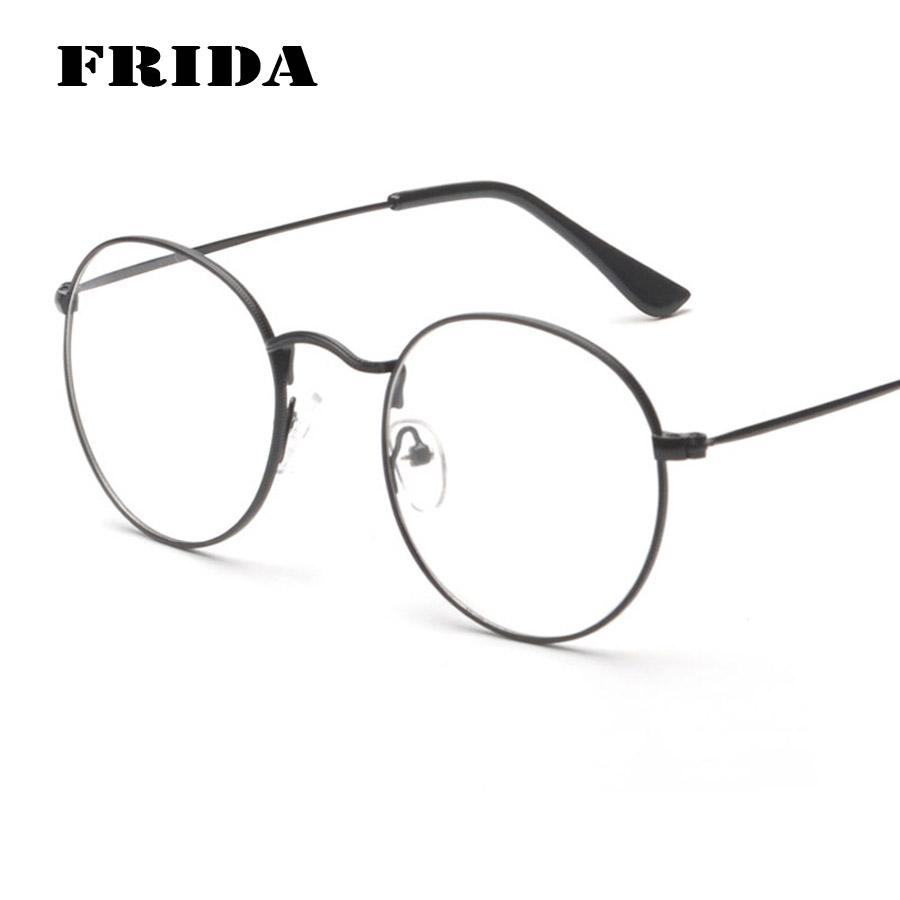 frida 2016 new arrivals men eye glasses frames women round eyeglass frame eyewear metal frame circle