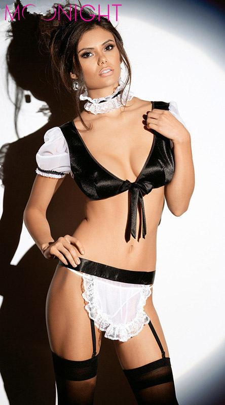 2016 2015 Hot Selling Women Sexy Maid Costumes Sexy Lingerie Set ...