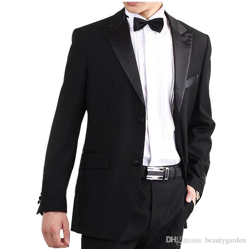 Men&39s Black Formal Suits Slim Clothing Coat Pants Lapel Design
