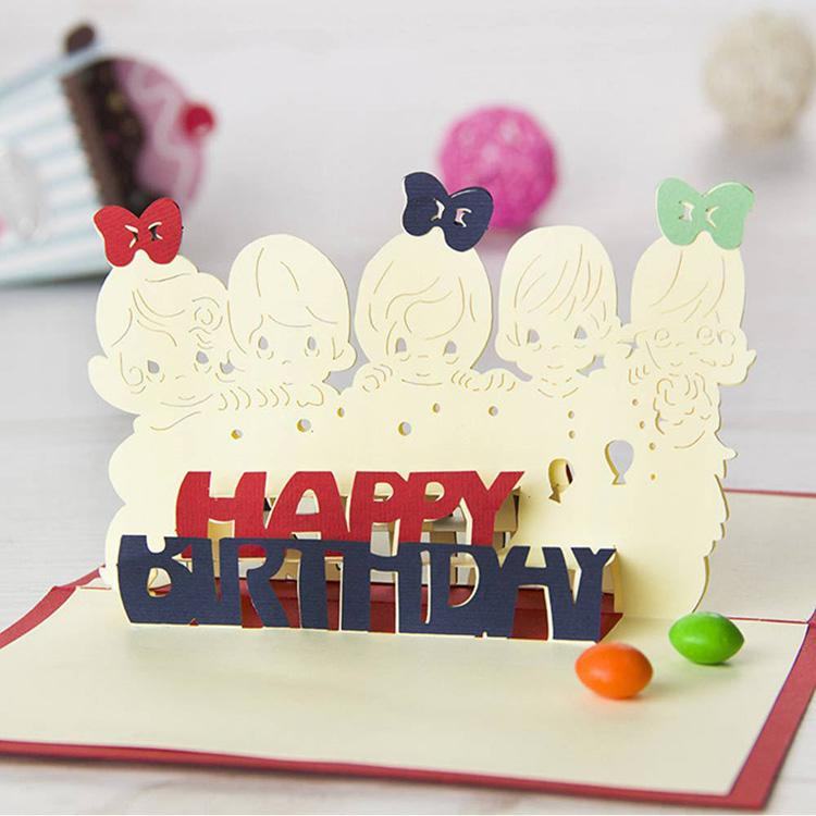 new d handmade card diy papercut d greeting cards kids birthday, Greeting card
