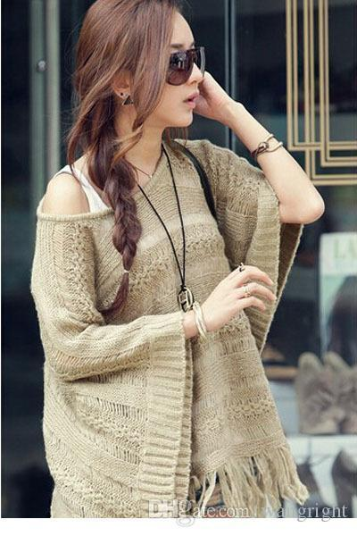 2014 Autumn Accent Knitted Pullover Sweater blusas femininas Womens