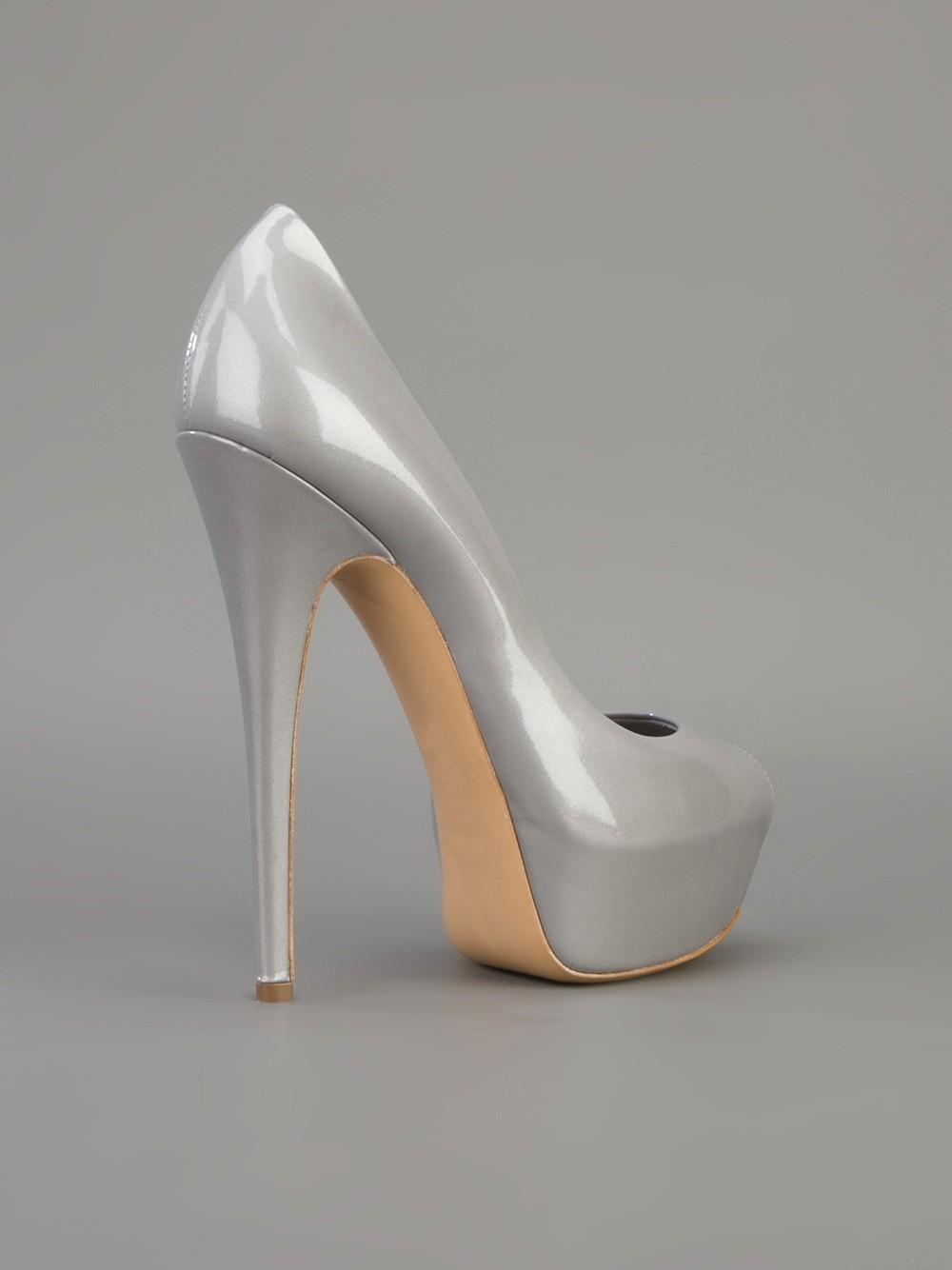 Cheap Silver Platform Heels