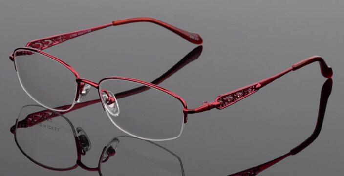 titanium eyeglass frames  New Womens Titanium Eyeglass Frames Red Or Purple Color Lady Eye ...